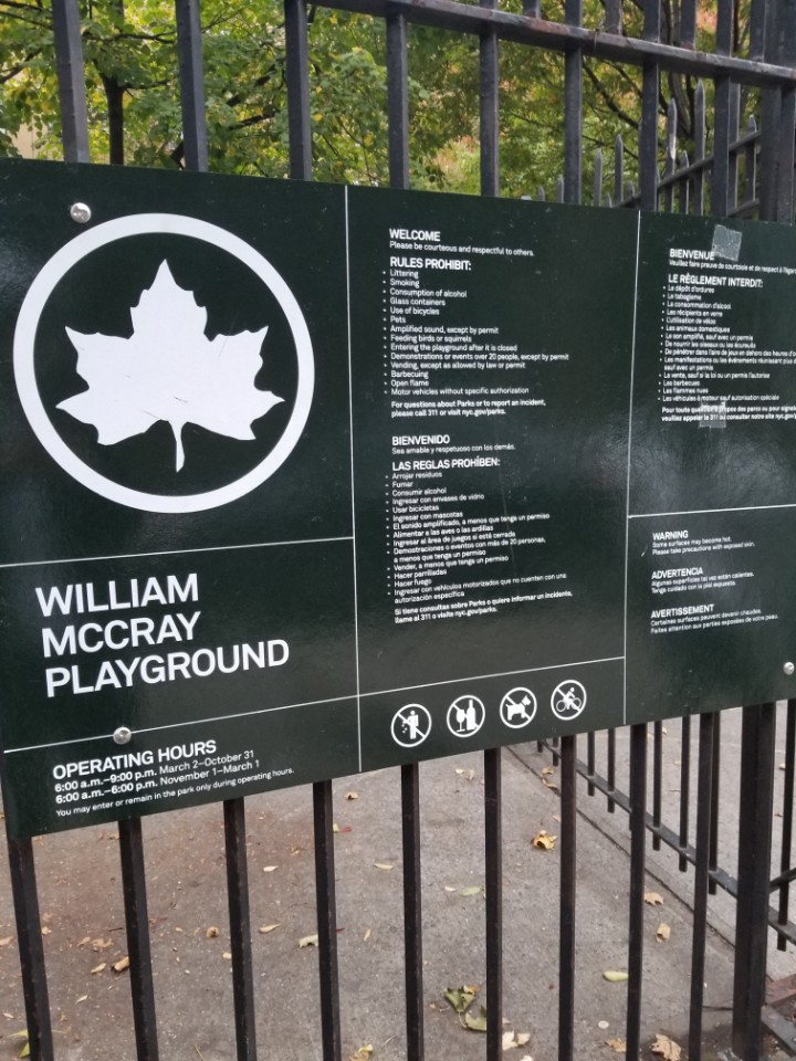 The plague of William McCray Playground