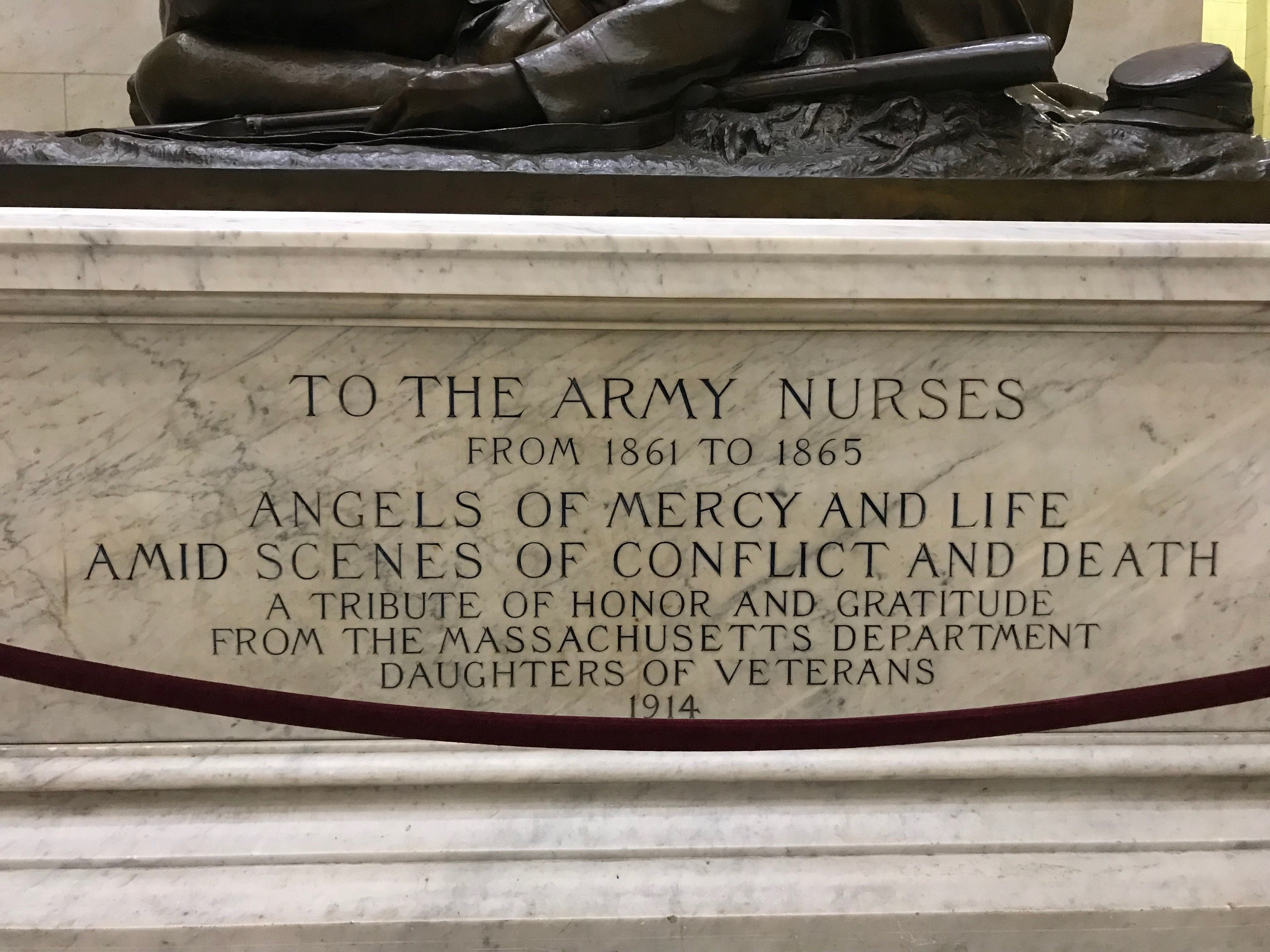 Civil War Army Nurses Memorial Plaque by Bela Lyon Pratt Photography by Edda Kirsch