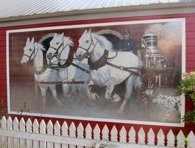 Mural on the exterior wall of the Hose Company No. 4 Firehouse