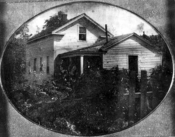 The house as it looked in 1855, five years after construction