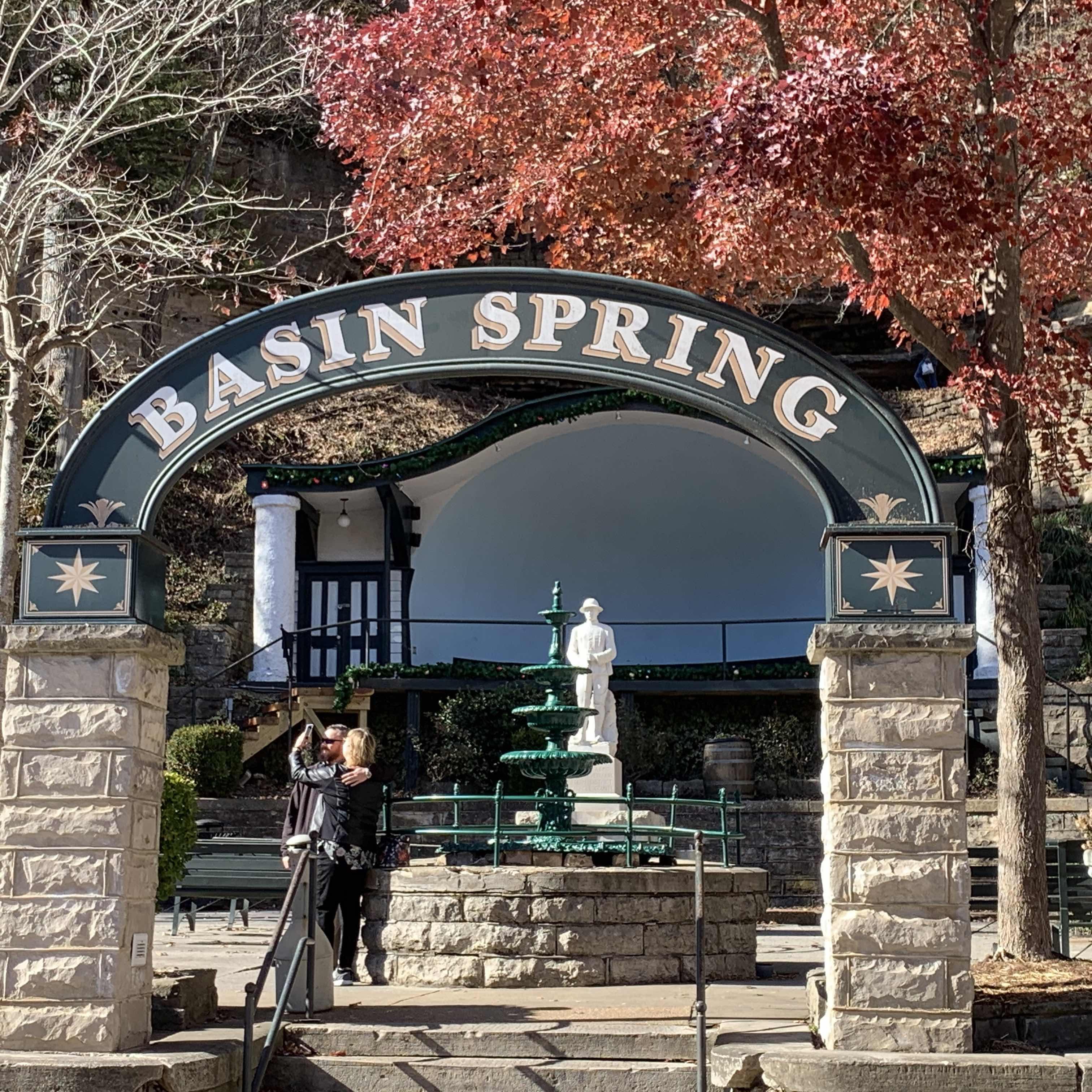 Basin Spring Park, at the bottom of Spring Street.
