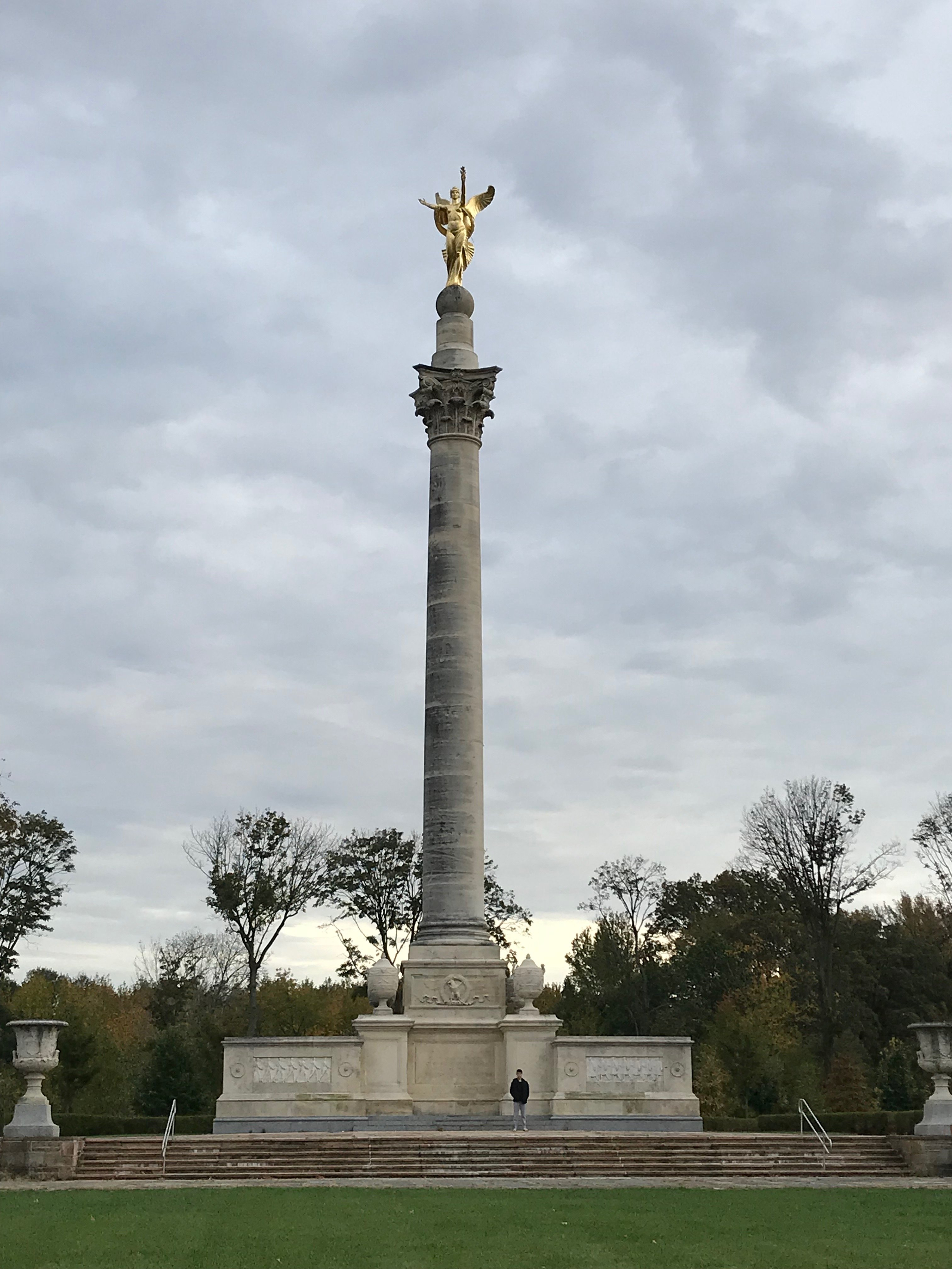 The monument with a human for scale.