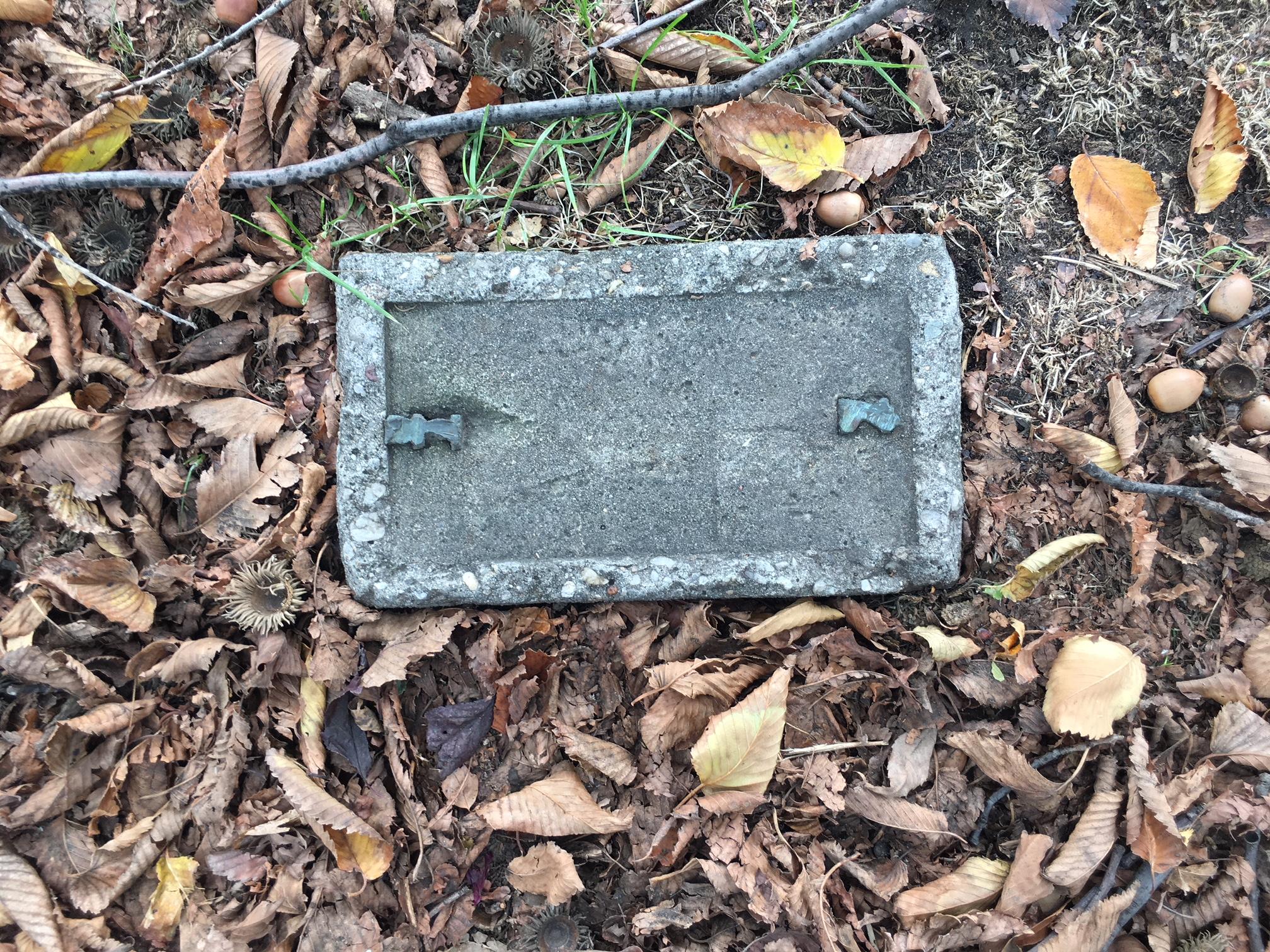 Stolen plaque.