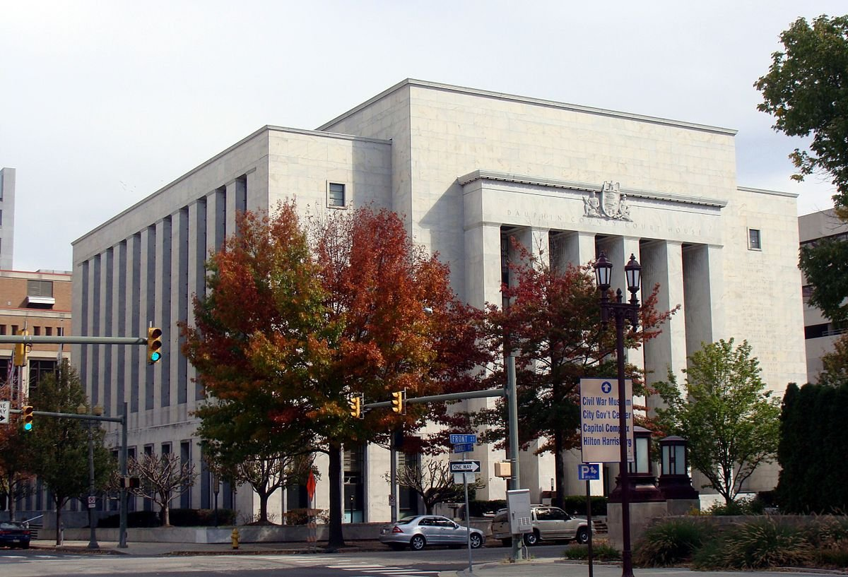 The Dauphin County Courthouse was completed in 1942, dedicated in 1943 and added to the National Register of Historic Places in 1993.