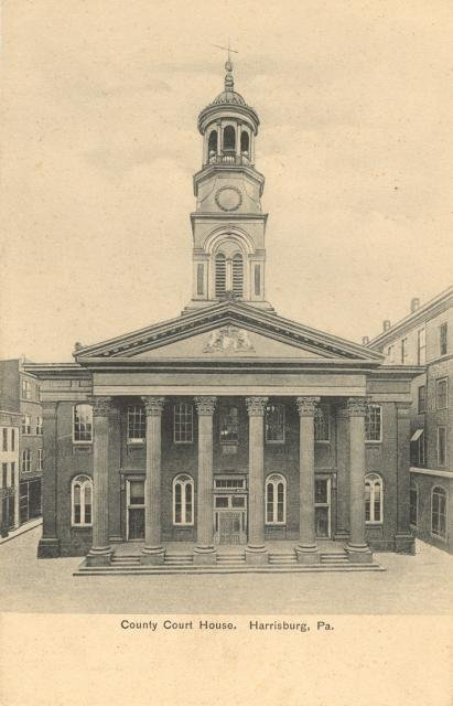 Dauphin county's second courthouse was completed in 1861.