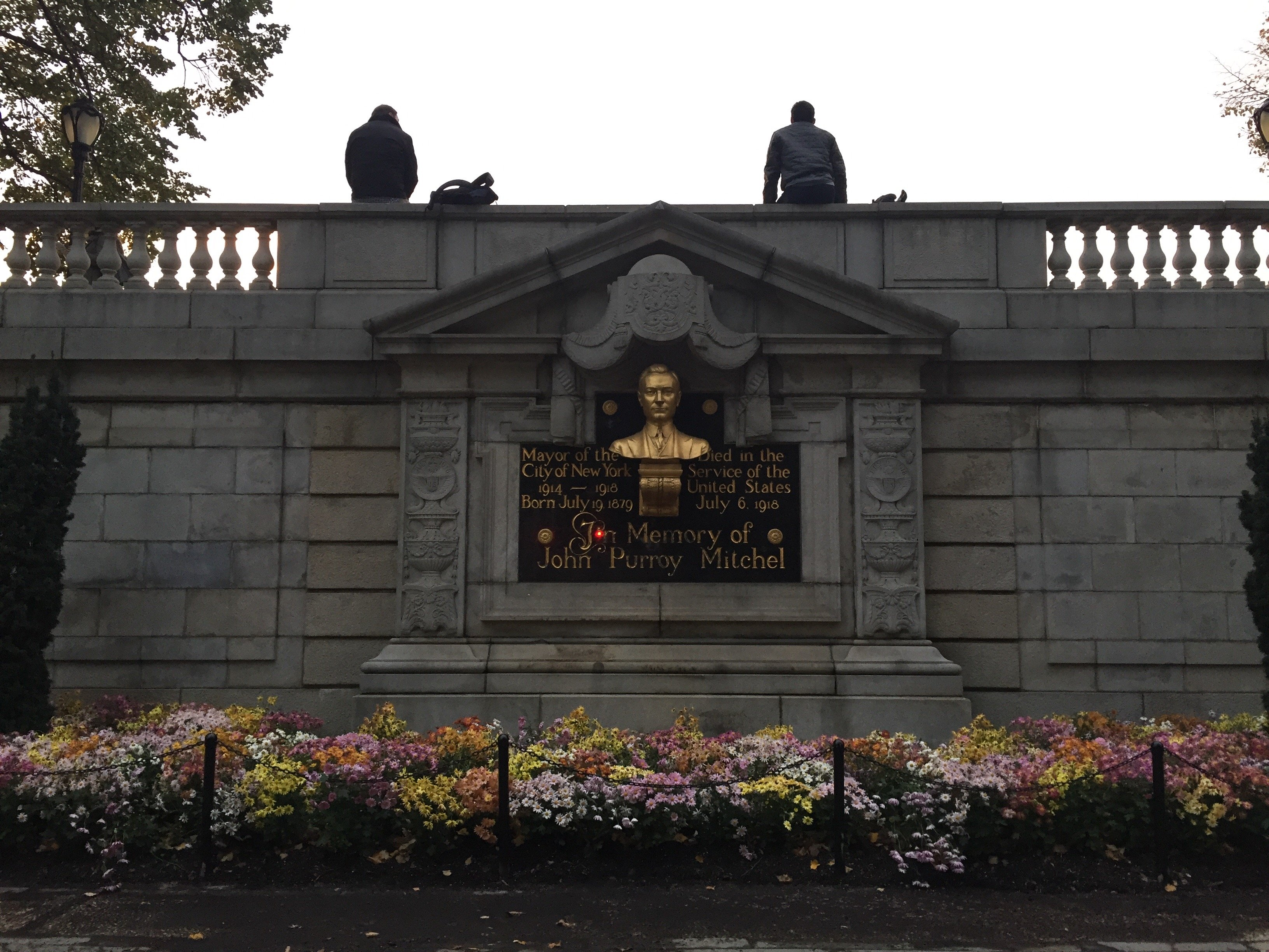 A full view of the John Purroy Mitchel Memorial.