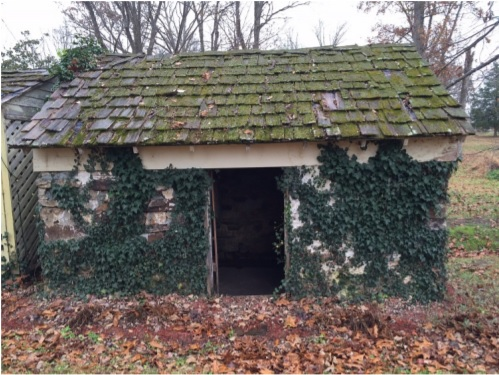 The surviving springhouse at Chalybeate Springs