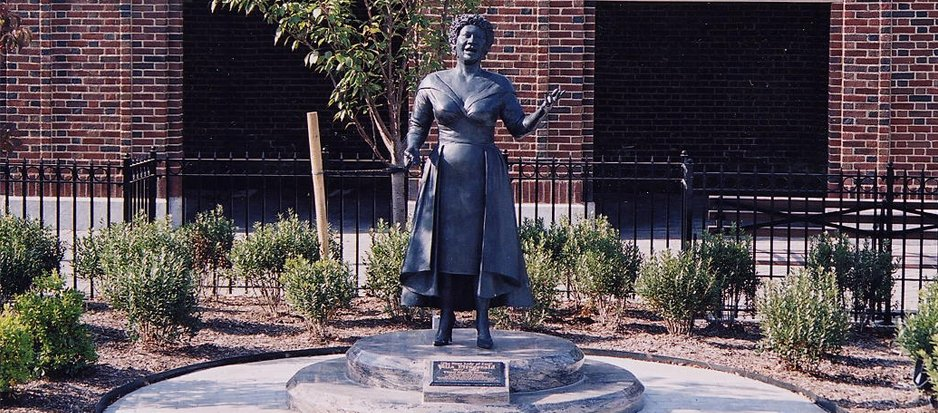 The sculpture was completed in 1996, the same year of Fitzgerald's death