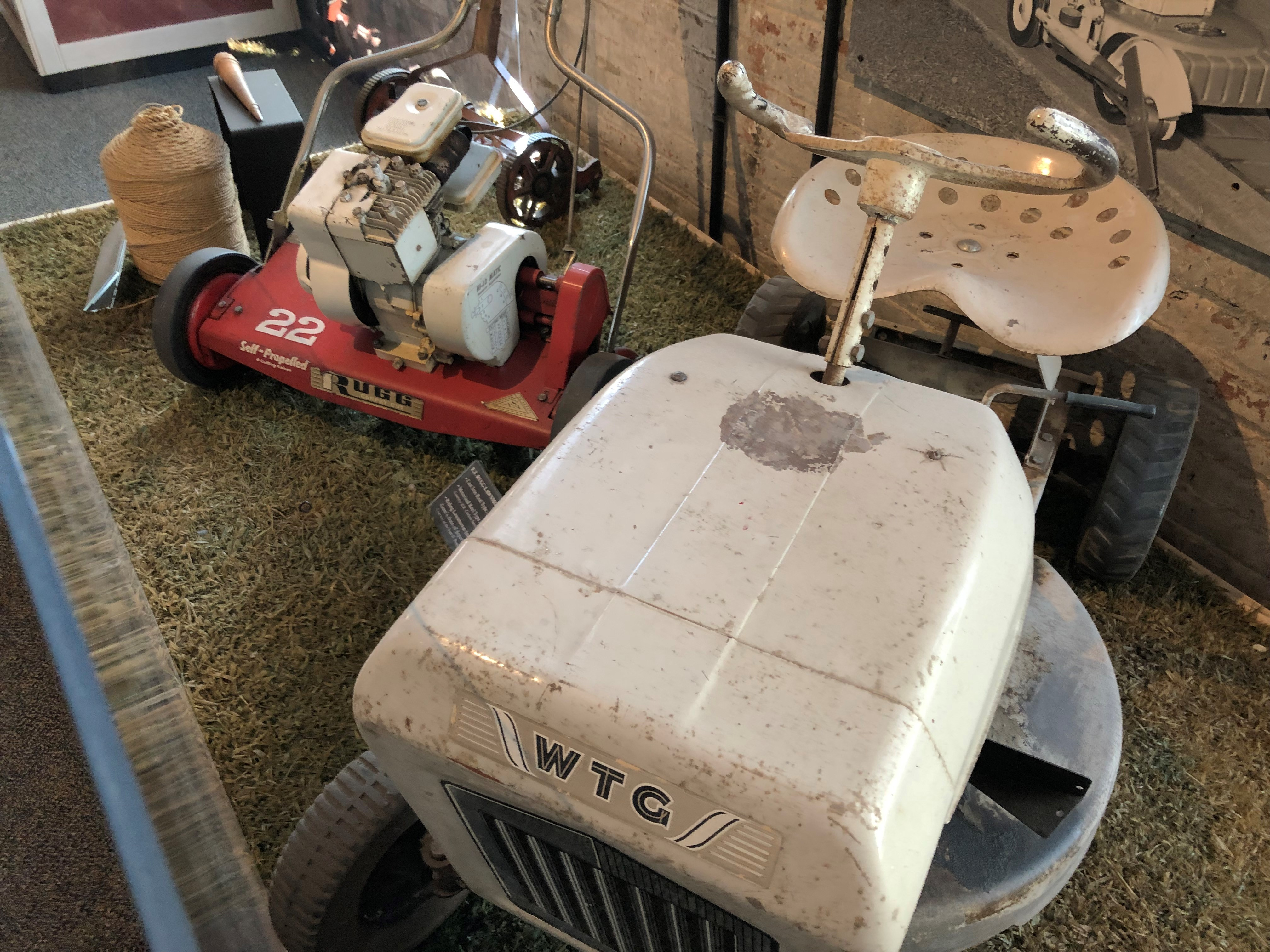 These lawn mowers were made by the E.T. Rugg Company in Newark.