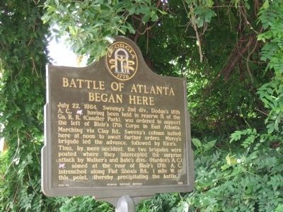 This marker commemorates the start of the battle and was placed in 1983