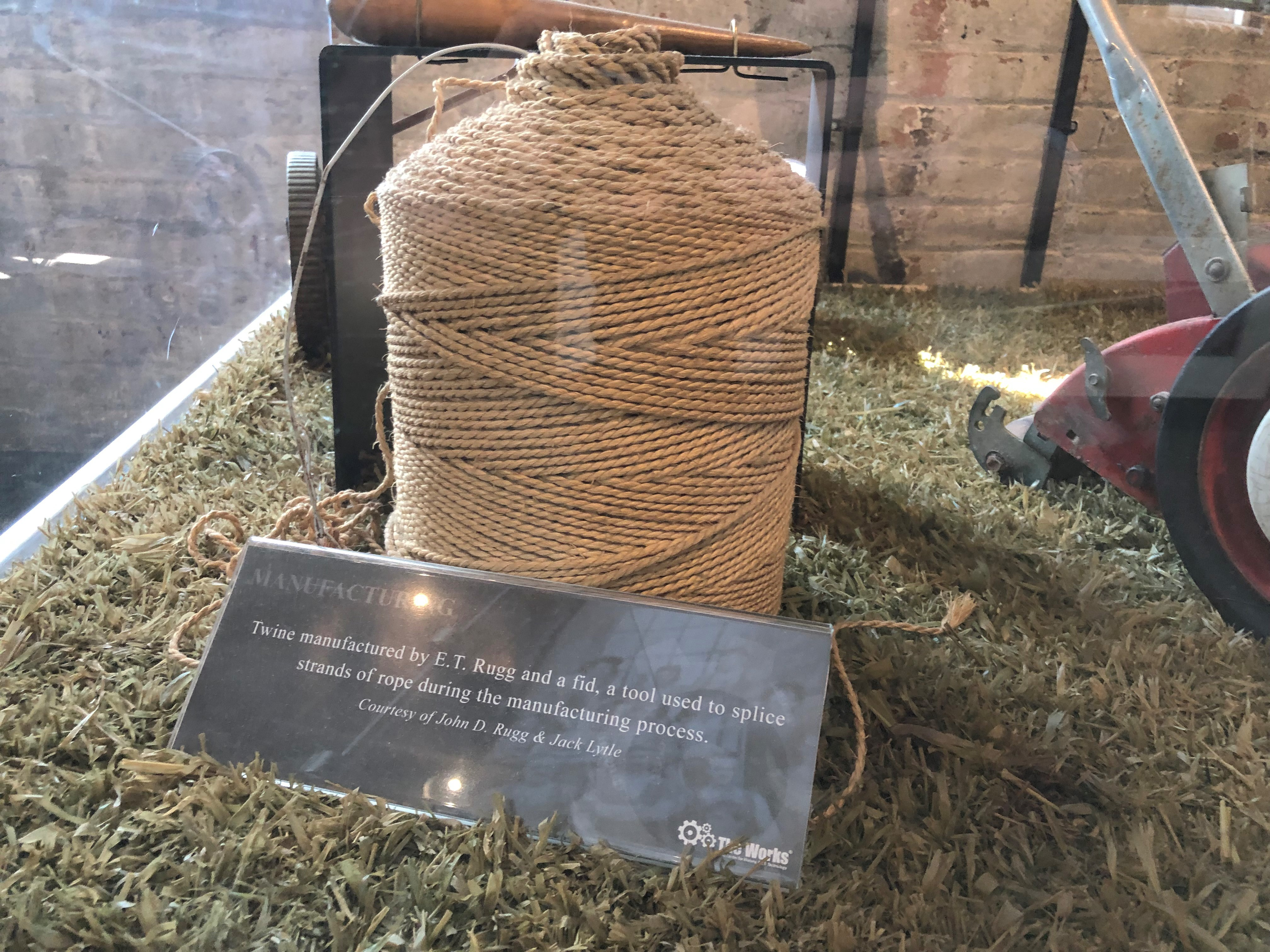 Rope produced by E.T. Rugg Company.