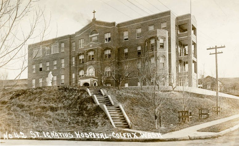 The hospital circa 1900 when it was operated by the Sisters of Providence