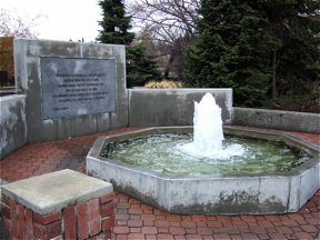 The fountain in downtown Pullman