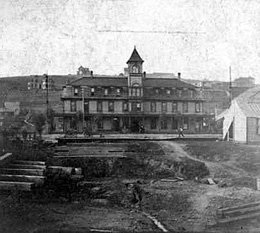 The Palace Hotel, near where the first artesian well in Pullman was discovered