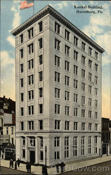 The Kunkel Building is featured on this 1915 postcard.