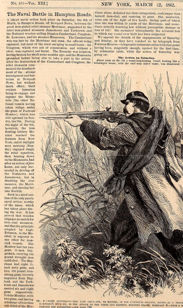 Article from Frank Leslie's Illustrated Newspaper, written two weeks after the battle.