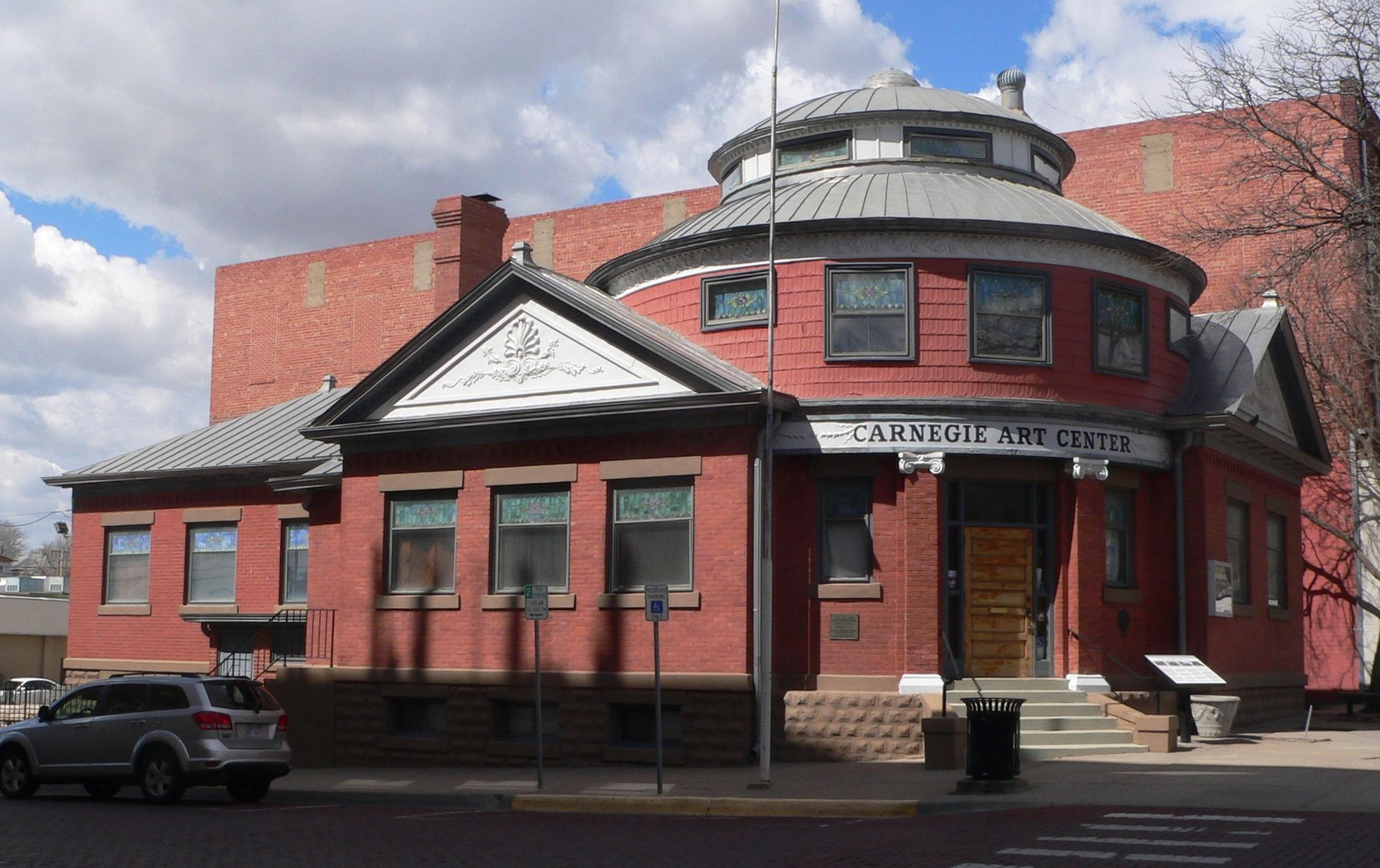 The Carnegie Library was built in 1907 and operated as such until 1970. It is now the Carnegie Art Center.