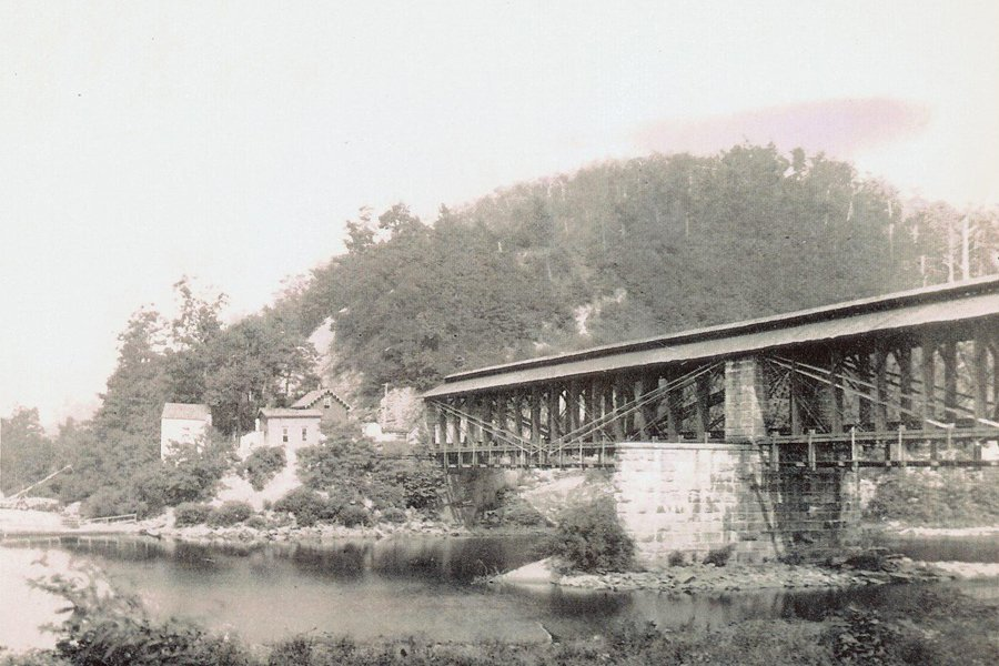The Cheat River Bridge in 1870. Courtesy of the Rowlesburg Tourism Commission.