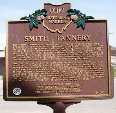 Smith Tannery listed by the State of Ohio as an historic site.