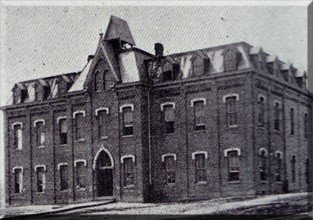 Roburn Hall: Built in 1888, Roburn Hall was the first building on the campus of the Williamsburg Institute. (Courtesy of the City of Williamsburg, KY)  In 2010, Roburn Hall was renamed Moss Hall in honor of one of the founders of the school, Dr. E. S. Mos