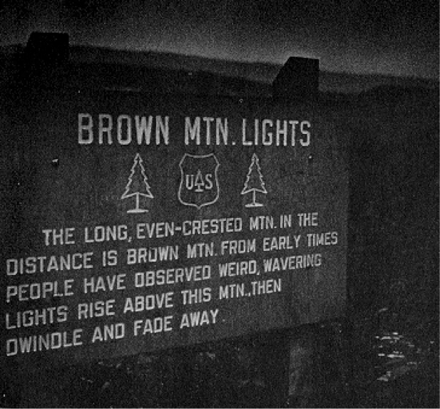 Brown Mountain Light original lookout sign