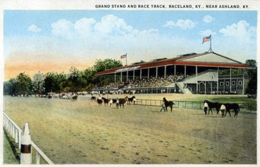 An old postcard for the racetrack.