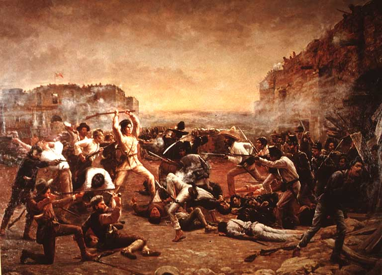 This painting depicts the battle. Photo Credit: http://www.eoilangreo.net/herminio/culture/elalamo.htm