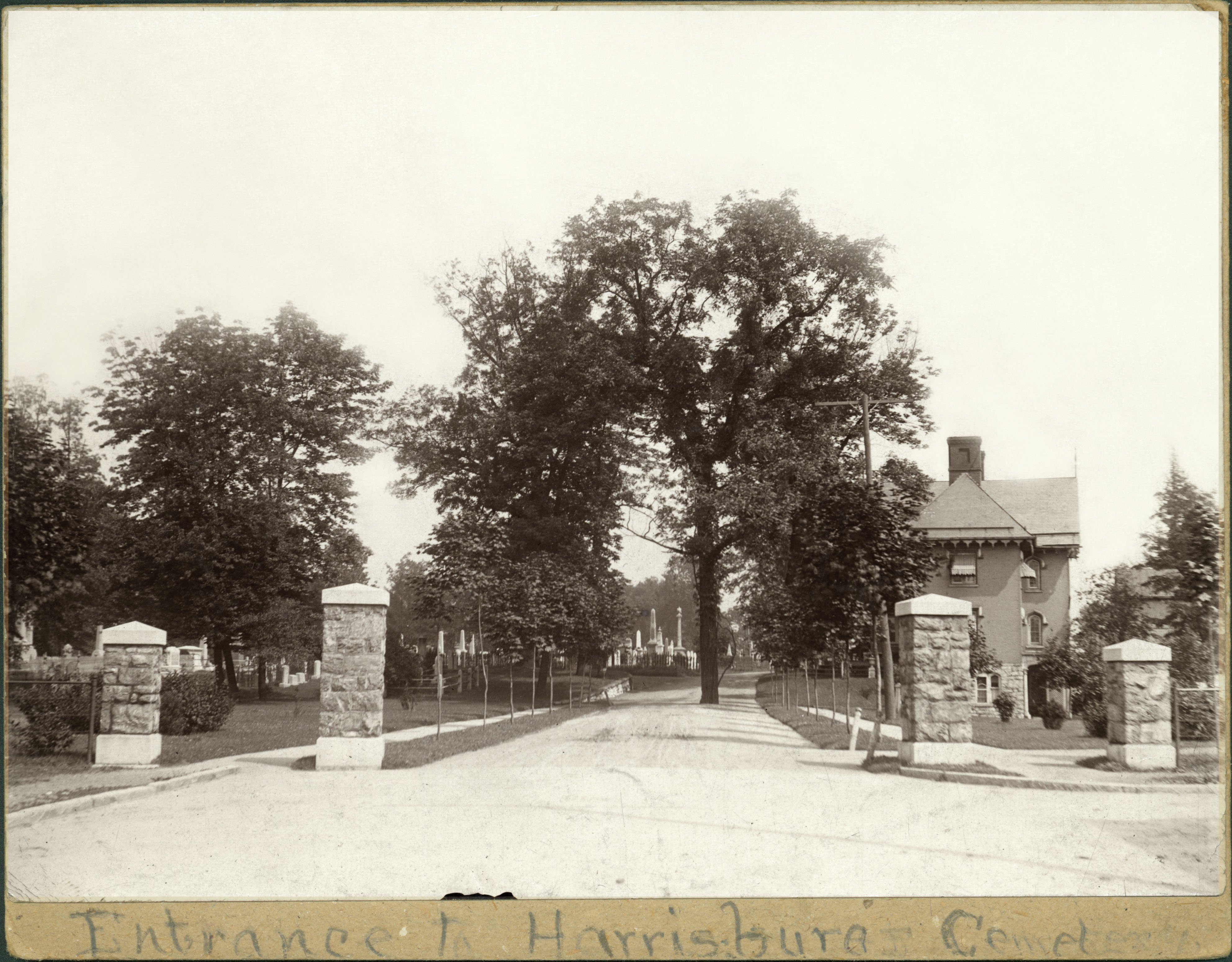 The same entrance from a c.1920 photograph.