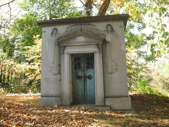 One of the mausoleums that dot the Harrisburg Cemetery.  In this case, one belonging to the Dull family.