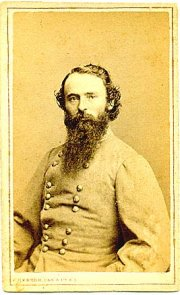 Confederate Major General James Fagan, commanding one of three of Price's divisions during the raid. He conducted the Rebel rearguard at Boonsville. Despite his chosen side during the war, afterward he was appointed a US Marshal by President Grant.