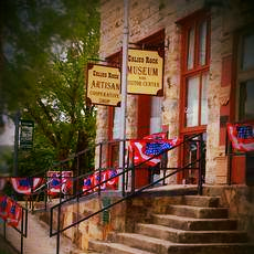 A view of the Calico Rock Museum Heritage & Visitor Center along Main Street in Calico Rock.