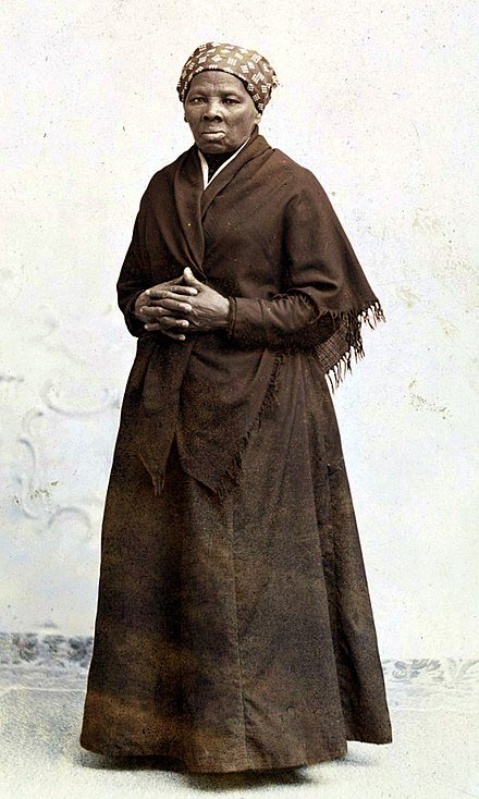 Portrait of Harriet Tubman.