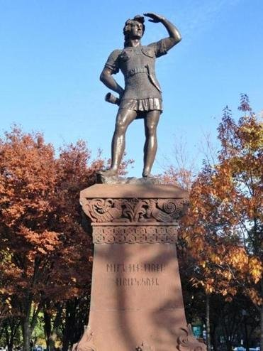 Leif Erikson Memorial Statue found on the Commonwealth Avenue Mall