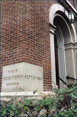 The imprint when the church was first rebuilt