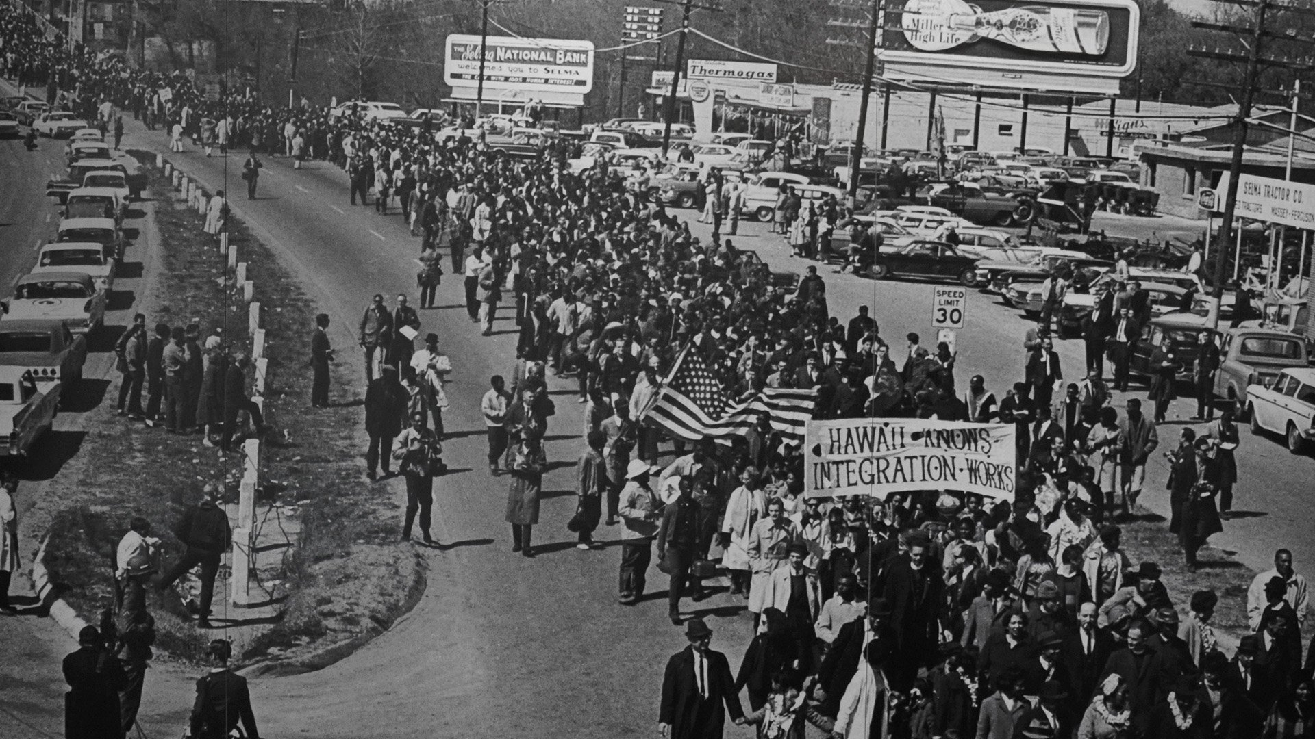 In March of 1965, black and white civil rights activists marched for the voting rights of all Americans.