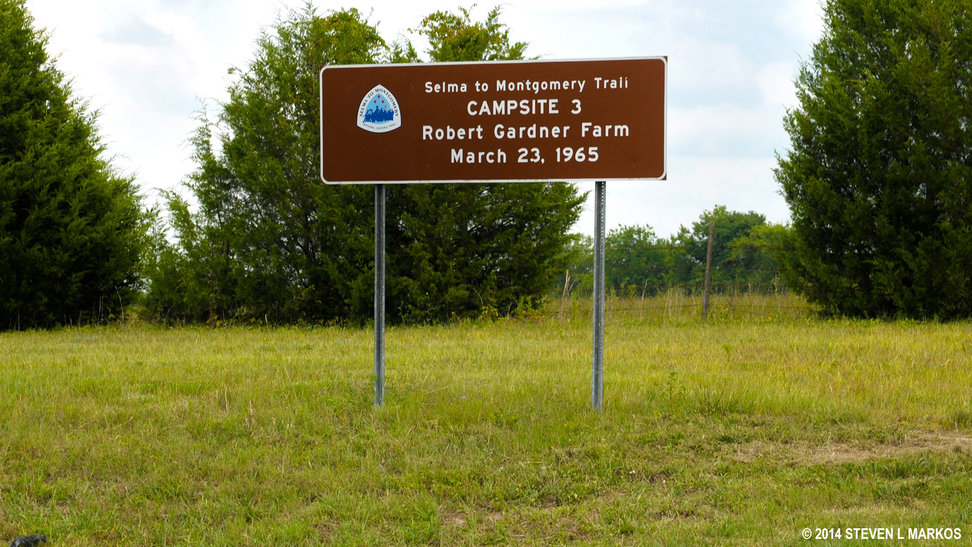 The third campsite used by the marchers was the Robert Gardner Farm On Highway 80.  This campsite along with three others was prearranged to provide the marchers a place to rest and to tend to any wounds.
