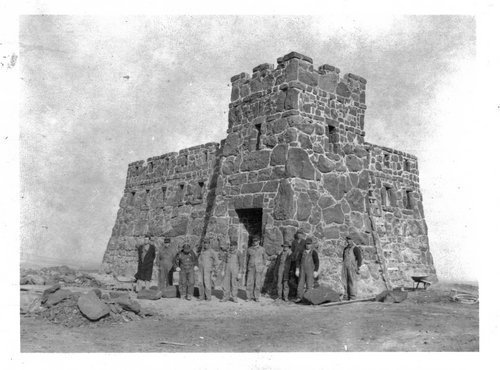 Exterior view of the castle from its completion in 1936.
