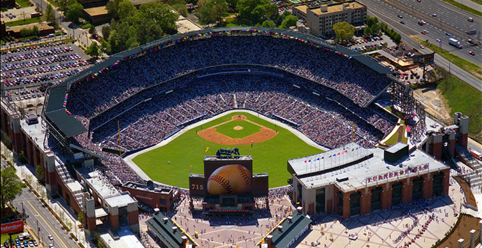The second version of Georgia State Stadium - Turner Field