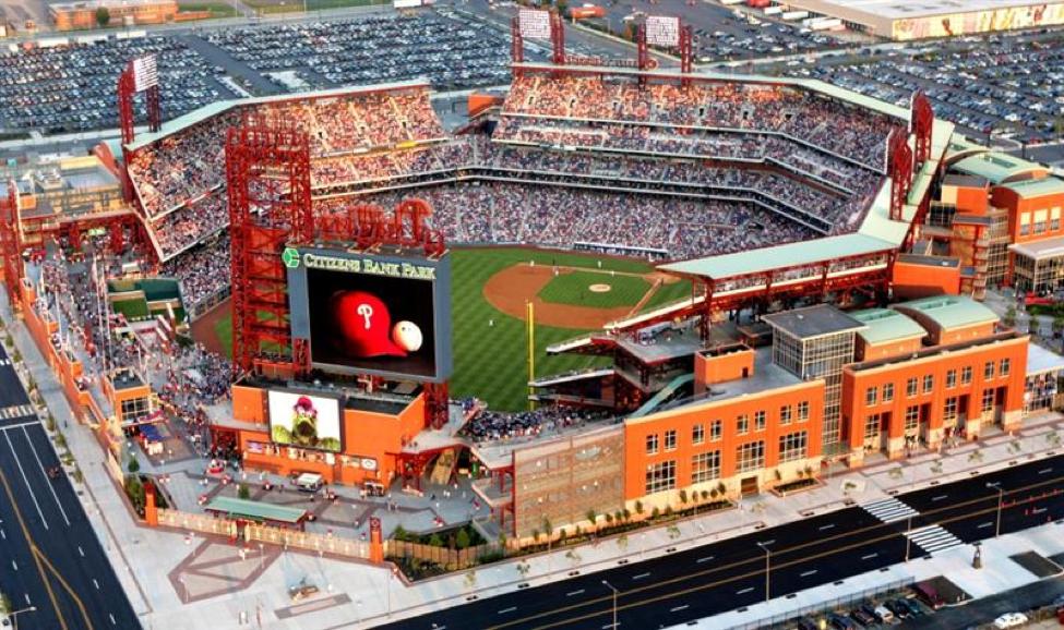 Exterior of Citizens Bank Park. Courtesy of Philadelphia Phillies/ MLB