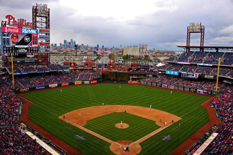 Citizens Bank Park Baseball Field. Courtesy of Philadelphia Phillies/ MLB