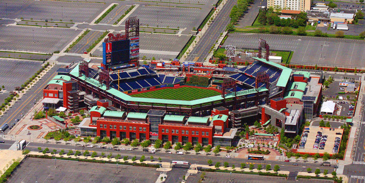 Aerial View of Citizens Bank Park. Courtesy of Philadelphia Phillies/ MLB