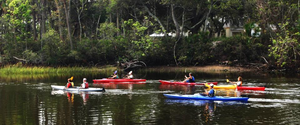Kayaking in the State Park.