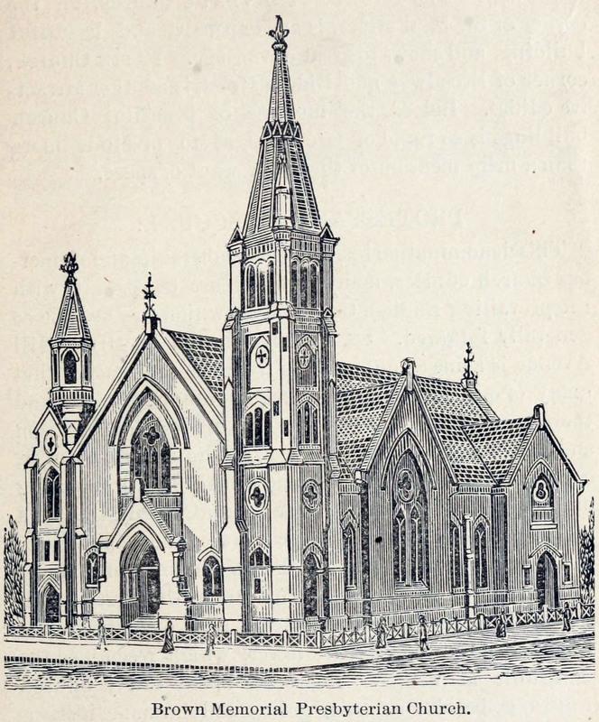 Brown Memorial Church in 1888.