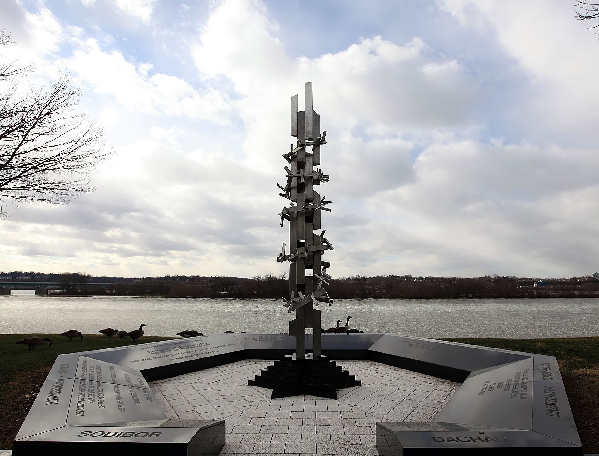The Holocaust Memorial stands along the banks of the Susquehanna River in Harrisburg.