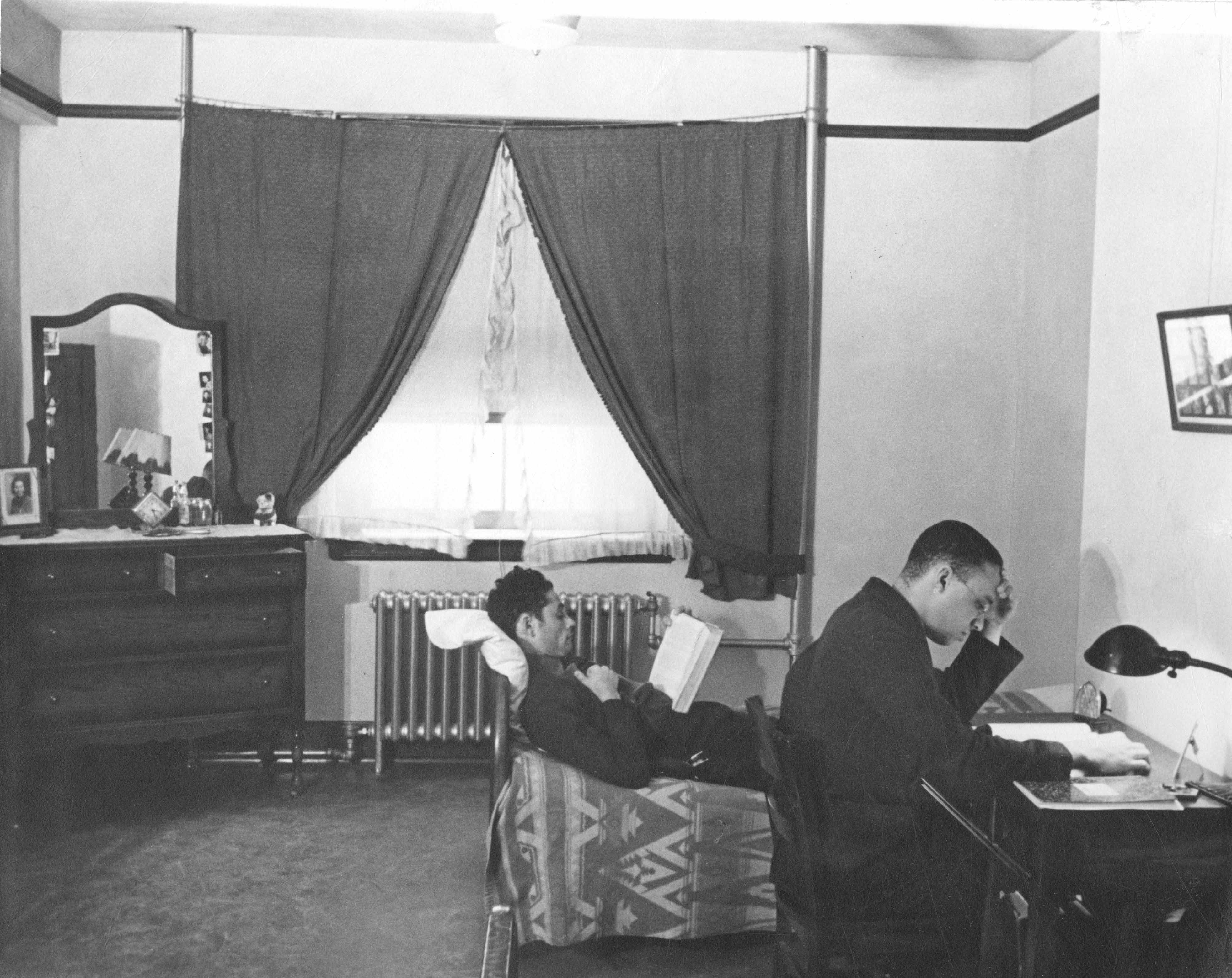 Lincoln University dorm room, c. 1937.