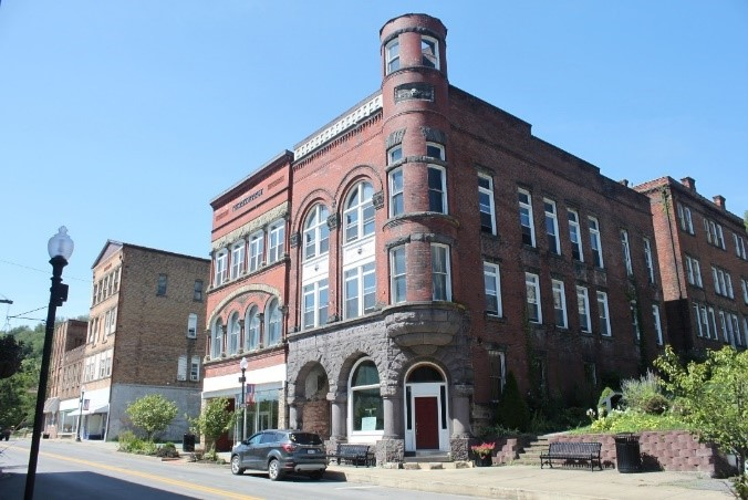 Merchants and Mechanics Savings Bank is located in historic downtown Grafton