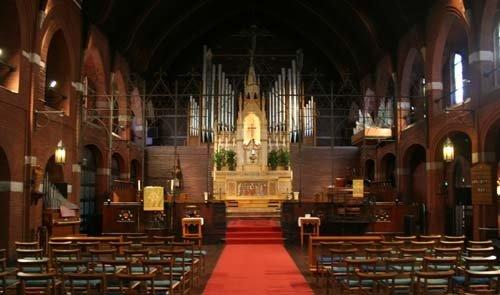 Interior of church - nave