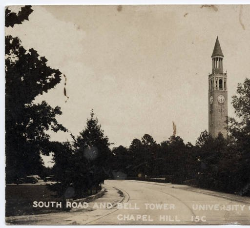 A postcard (c. 1905-15) showing South Road and the Bell Tower.