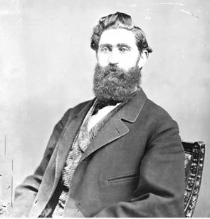 Union Colonel Thomas Moonlight. His Second Brigade of Kansas cavalry fought hard as the Union rearguard for six hours along the Old Independence Road.