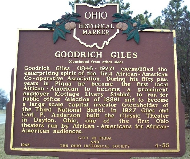 Side B describing the story of Goodrich Giles